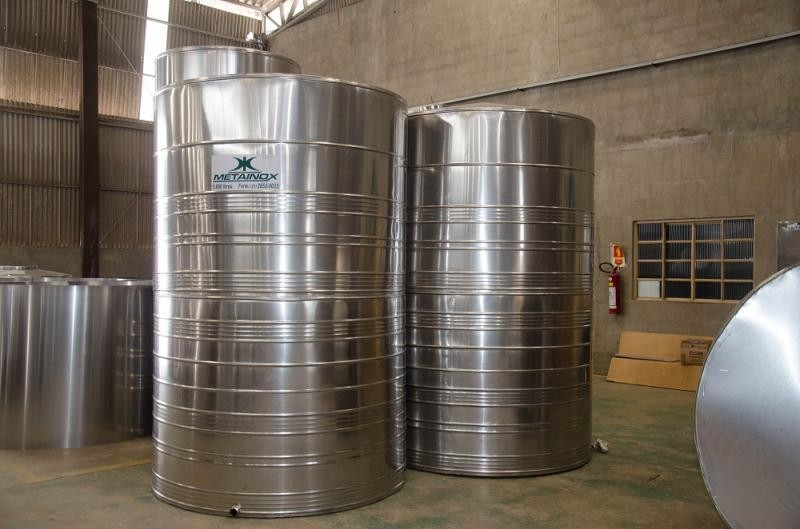 Tanque de armazenamento aço inox